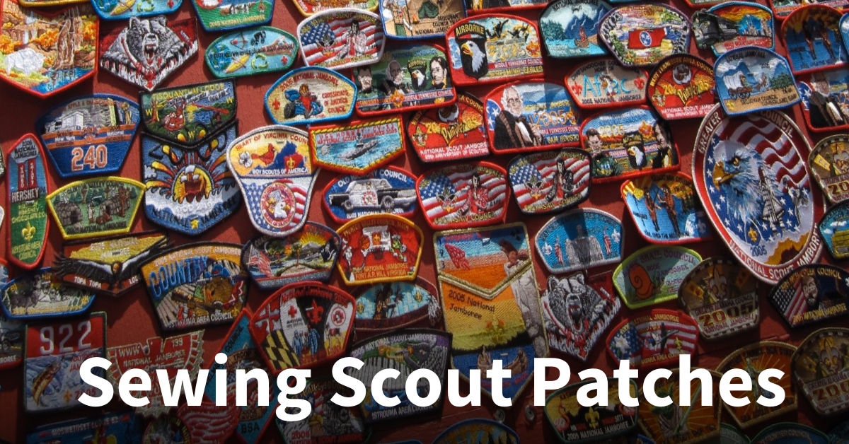 Display boy scout patches