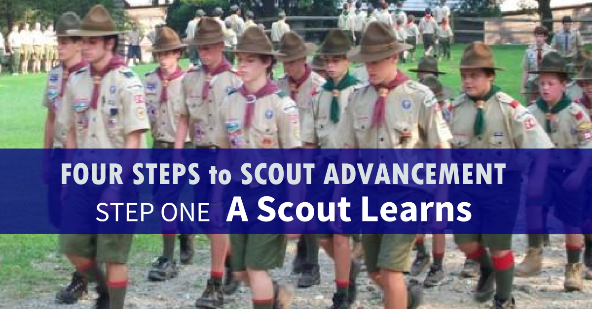 four steps to scout advancement 1