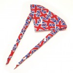 The Union Jack, or lots of Union Jacks are a popular neckerchief design element.