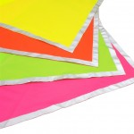 Day-glo colors and a reflective border - the high visibility neckerchief