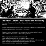 The Patrol Leader's Real Power and Authority