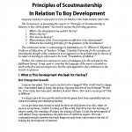 Principles of Scoutmastership