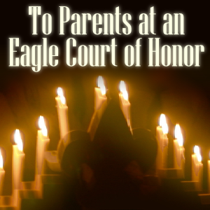 parents at an Eagle court of honor