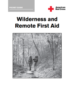 Red Cross Wilderness First Aid pocket Guide