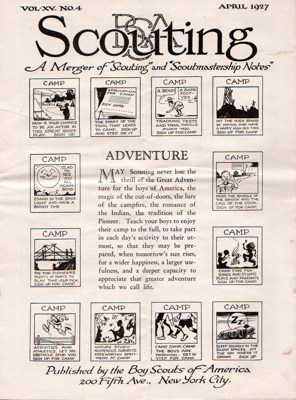 Scouting Magazine April 1927