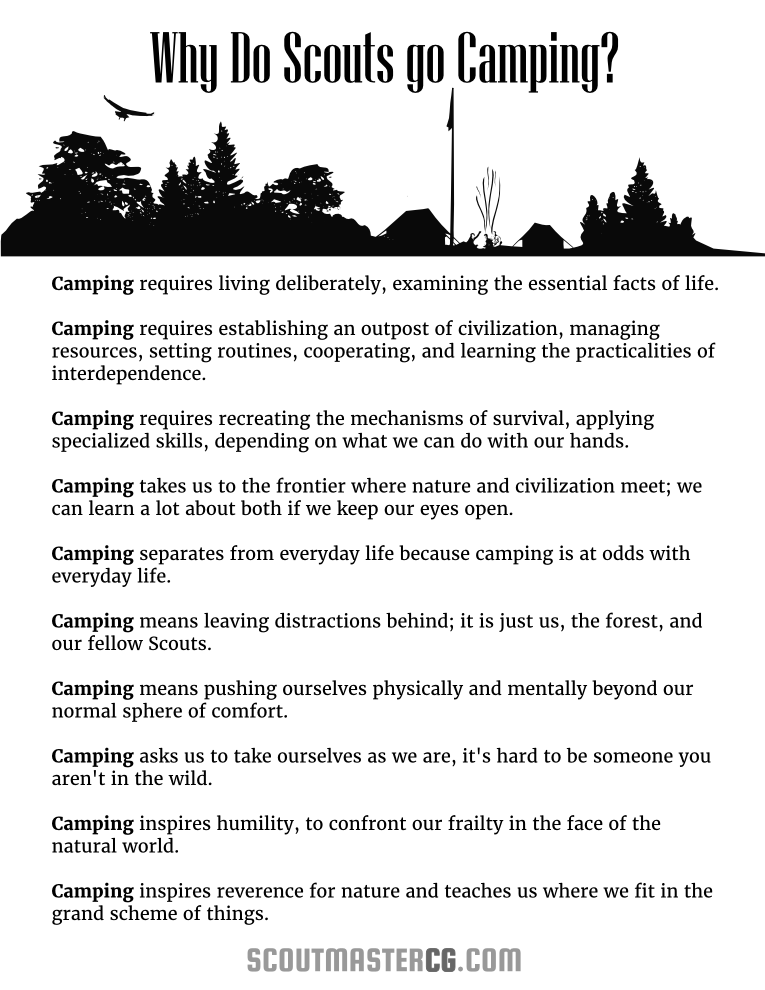 Why do Scouts go camping