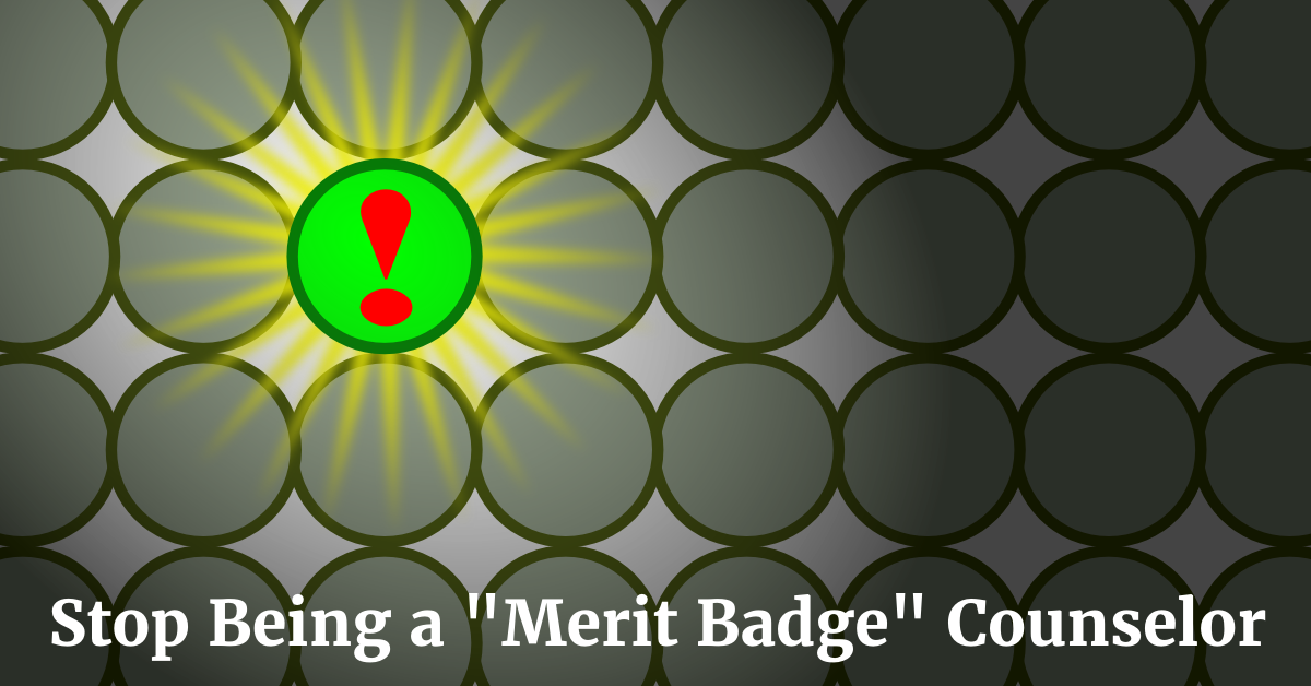 stop being a merit badge counselor