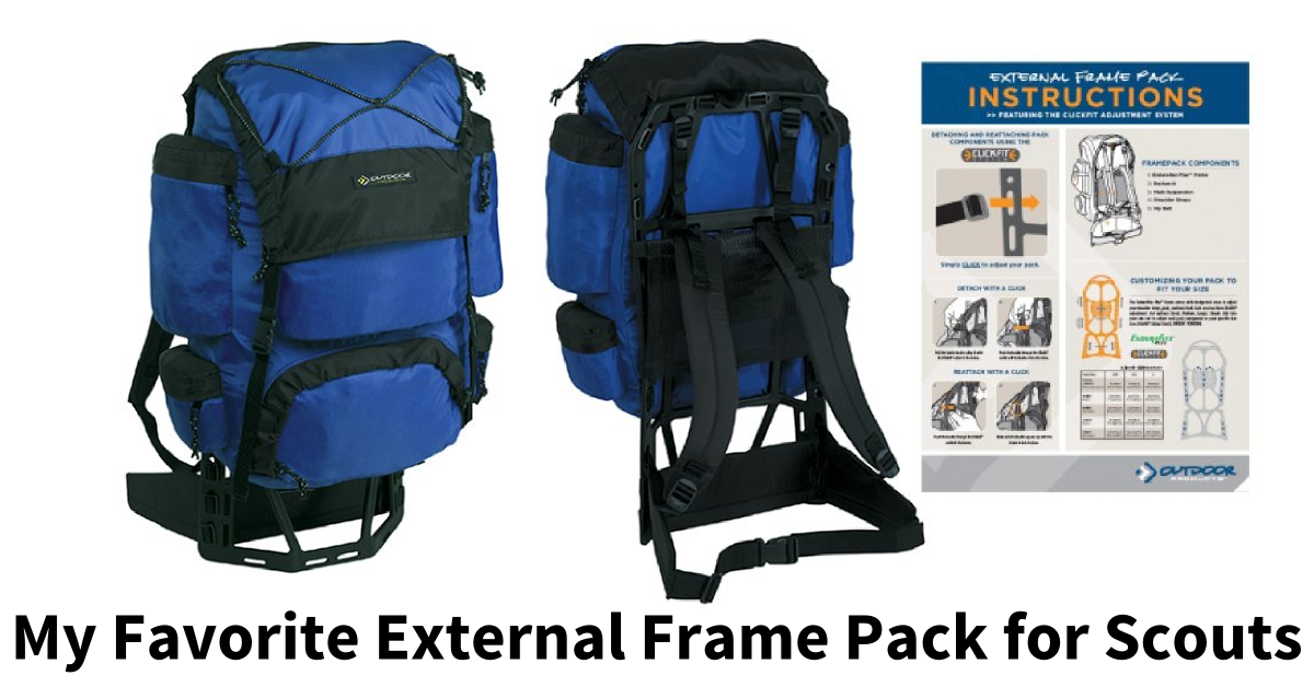 My Favorite External Frame Pack for Scouts