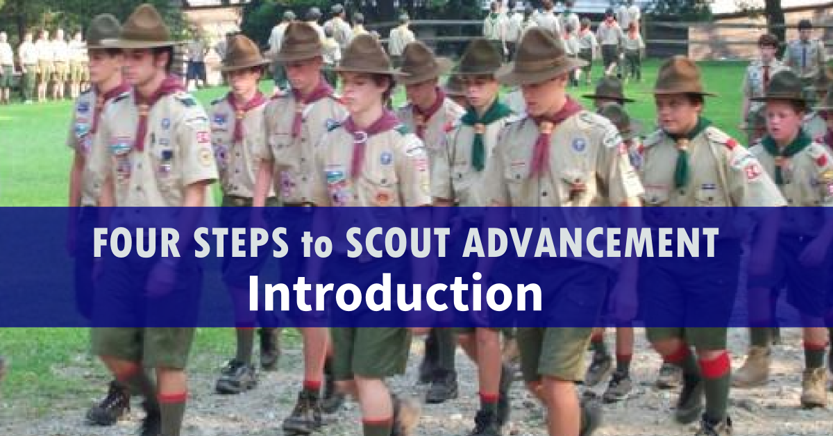 four steps to scout advancement intro