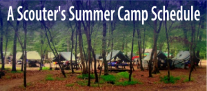 scouters summer camp schedyule