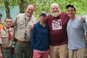 Even older Scouts showed up! (Trip, the man to my right, was actually in my Webelos den 30 years ago!