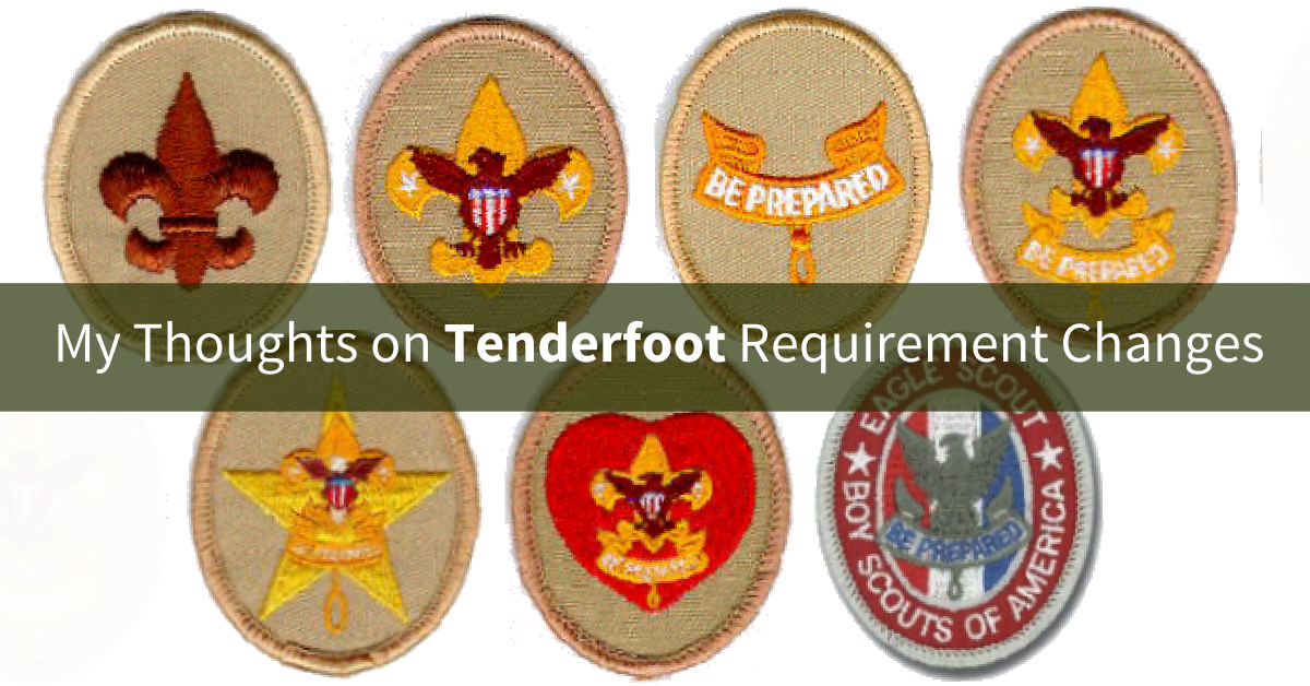 New Tenderfoot Rank Requirements Scoutmastercg