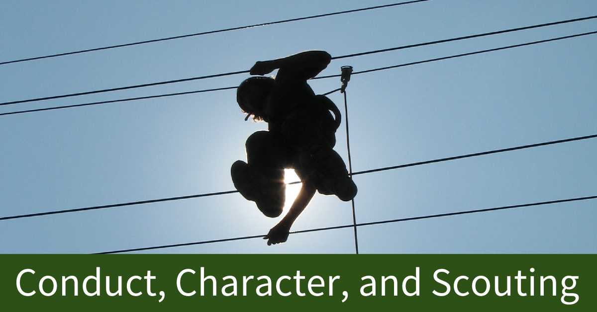 conduct character and scouting