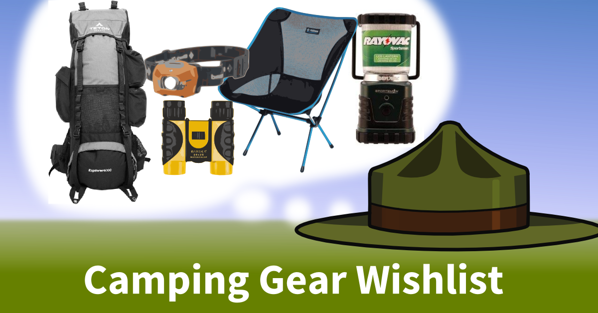 camping gear wishlist