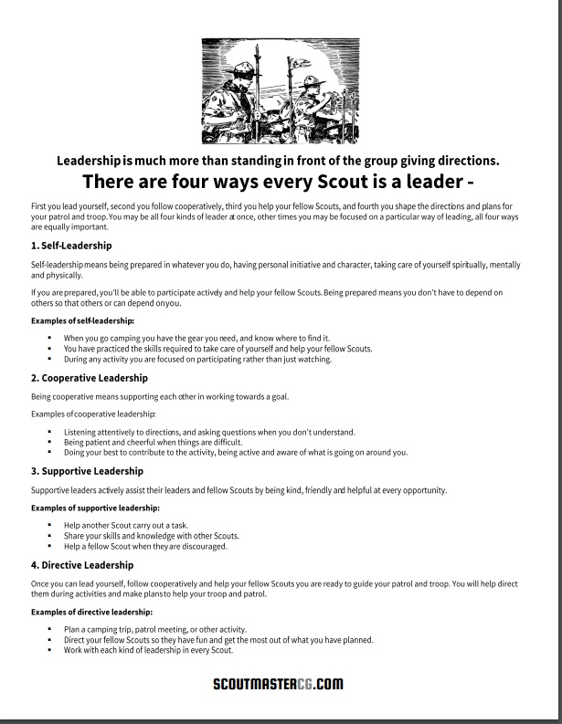 Every Scout a Leader